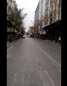 Μια βόλτα στην Αθήνα εν όψη κορωνοϊού οδός Πανεπιστημίου